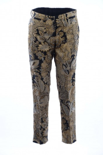 Dolce & Gabbana Women Gold Embroidred Trousers - FTBJCT HJMAH