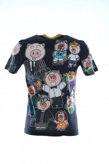 Dolce & Gabbana Men Pigs Short Sleeves T-shirt - G8JJ2T HH7E1
