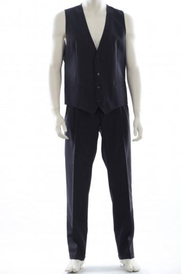 Dolce & Gabban Set Pantalón y Chaleco Lana Hombre - I7056M G9O27