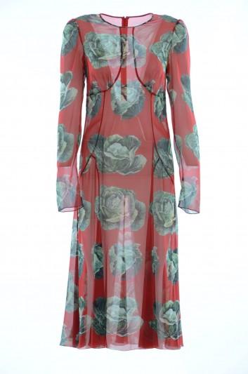 Dolce & Gabbana Vestido Medio Seda Mujer - F67G8T FSAUW