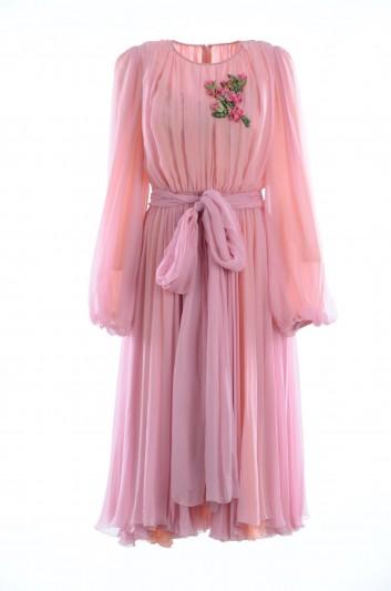 Dolce & Gabbana Vestido Seda Mujer - F61Q2Z FU1AT
