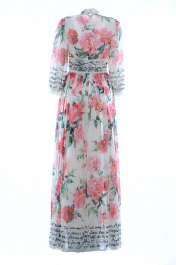 Dolce & Gabbana Women Silk Long Dress - F68D8T HH1DE