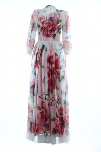 Dolce & Gabbana Vestido Largo Seda Floral Mujer - F66R4T GDJ18