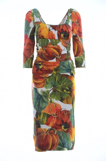 Dolce & Gabbana Vestido Medio Seda Mujer - I647MW FSAV0