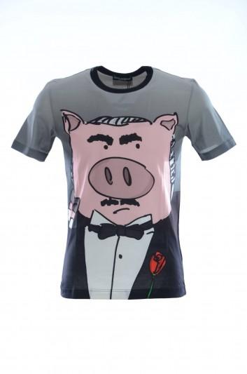 Dolce & Gabbana Men Pig Short Sleeves T-shirt - G8IA8T HH7E5