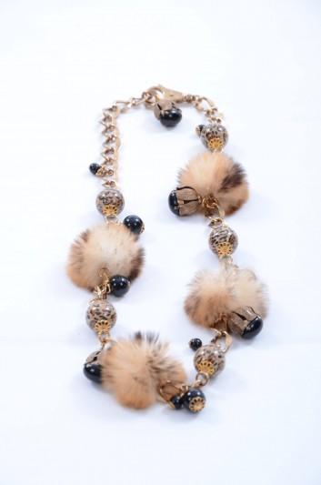 Dolce & Gabbana Women Pompom Jewel Belt - WLJ2M2 W0001