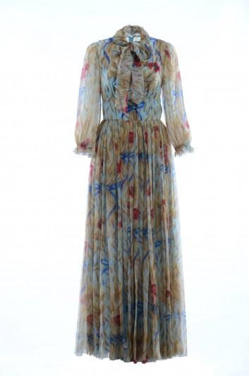 Dolce & Gabbana Vestido Medio Estampado Espigas Mujer - F66R4T HS1U3