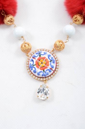 Dolce & Gabbana Women Majolica Jewel Necklace - WNJ2C4 W0001