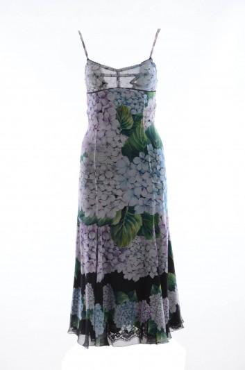 Dolce & Gabbana Vestido Medio Estampado Hortensia Mujer - F65V0T FH15A