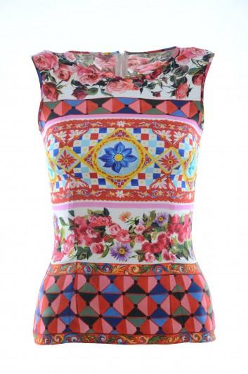 Dolce & Gabbana Women Sleevless Silk Shirt - F7U24T GDC82