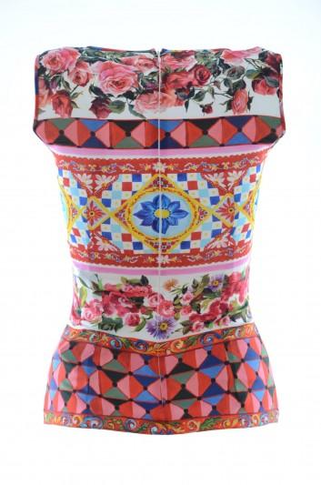 Dolce & Gabbana Camiseta Tirantes Seda Mujer - F7U24T GDC82