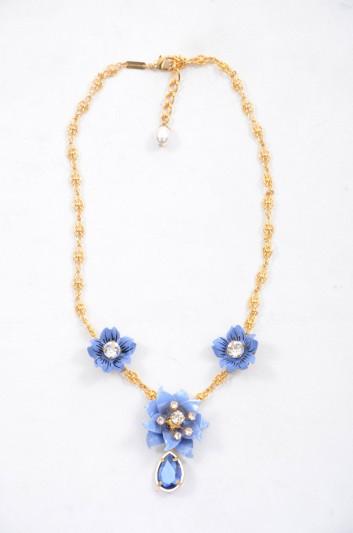 Dolce & Gabbana Women Floral Jewel Necklace - WNJ4F2 W0001