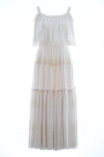 Dolce & Gabbana Vestido Largo Seda Tirantes - I667DW FU1LO