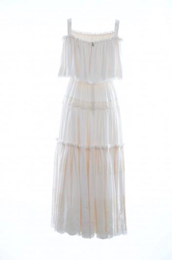 Dolce & Gabbana Women Strappy Silk Long Dress - I667DW FU1LO