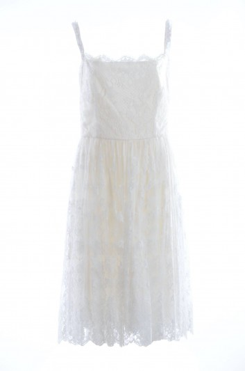 Dolce & Gabbana Women Silk Strappy Short Dress - I676DW HLMBX