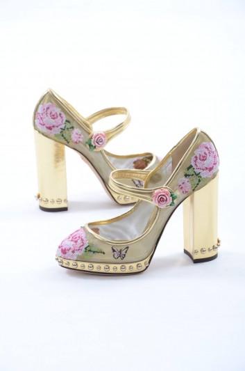 Dolce & Gabbana Women Rose Leather Sandals - CD0948 AN087