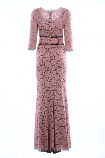 Dolce & Gabbana Vestido Largo Alta Sartoria Mujer - F64P4Z FLM55