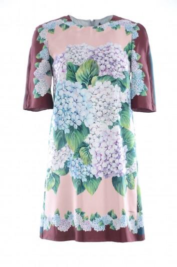 Dolce & Gabbana Vestido Corto Estampado Hortensias Mujer - F65U8T GDG09