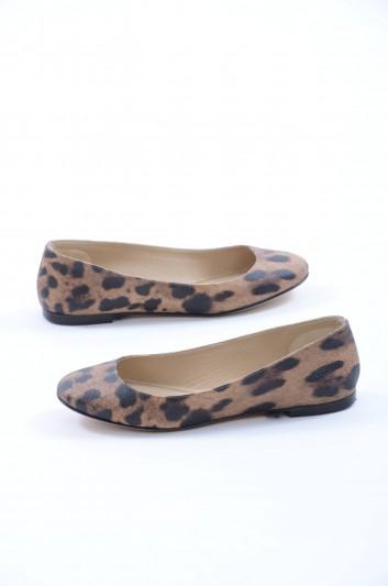 Dolce & Gabbana Women Ballet Leopard Flats - C17589 B1646