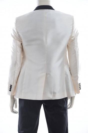 Dolce & Gabbana Men Silk Blazer and Waistcoat - G2FZ7T G9X61