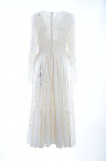 Dolce & Gabbana Vestido Largo Encaje Mujer - F6QX3T FLM9V