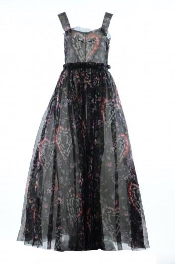 Dolce & Gabbana Vestido Largo Estampado Mujer - F68M3T HS1QB
