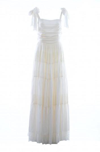Dolce & Gabbana Vestido Largo Seda Tirantes Mujer - I670DW FUREP