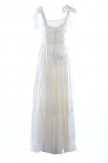 Dolce & Gabbana Women Silk Strappy Long Dress - I670DW FUREP
