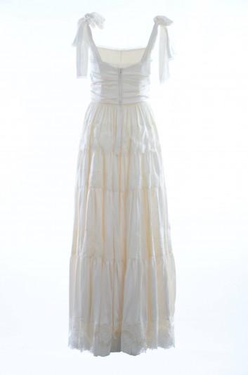Dolce & Gabbana Women Silk Strappy Long Dress - I670DW FU1K8