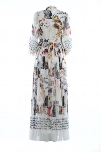 Dolce & Gabbana Vestido Seda Largo Mujer - F66R4T FH15J
