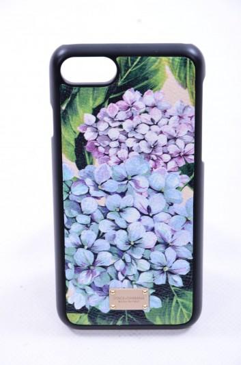 Dolce & Gabbana Funda Iphone 7/8 Estampado Hortensia Placa Mujer - BI2235 AI358