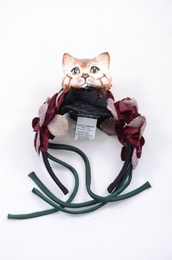 Dolce & Gabbana Women Cat Headband - FY234Z GDBBK