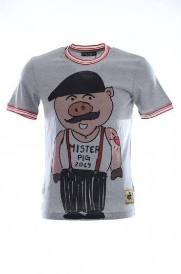 Dolce & Gabbana Camiseta Cerdo Manga Corta Hombre - G8IR4T HH7E4