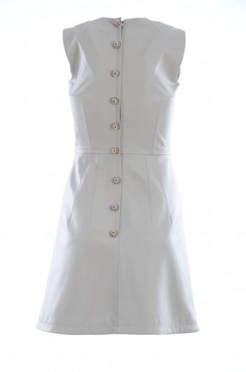 Dolce & Gabbana Vestido Corto de Piel con Botones Joya Mujer - F6VH3L FUL58
