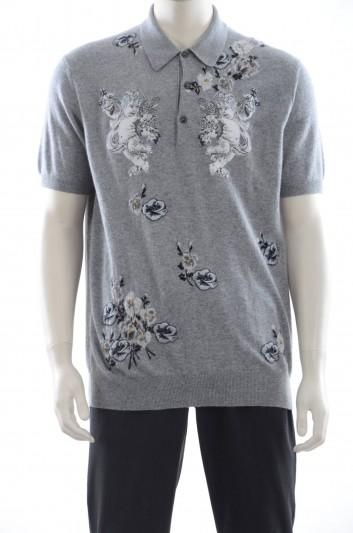 Dolce & Gabbana Men Polo Cashmere Henley Shirt - GP403K F69B5