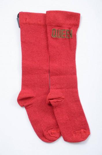 Dolce & Gabbana Women Queen Socks - FX070Z JAMMI