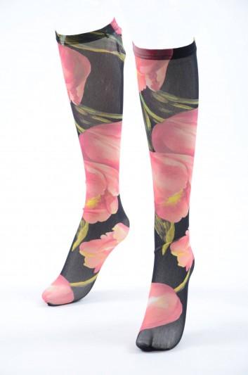 Dolce & Gabbana Medias Medianas Florales Mujer - FC158A FSM0C