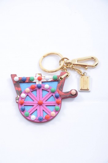 Dolce & Gabbana Women Sicilian Carretto Keyholder - BI0722 B3249