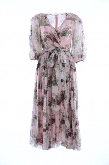 Dolce & Gabbana Vestido Seda Mujer - F66A4T HS1N0