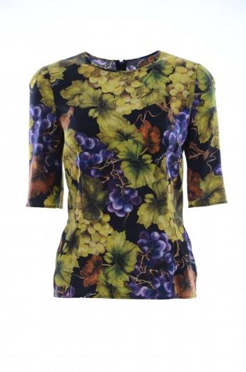 Dolce & Gabbana Women Silk Top - F7Y36T FSATC