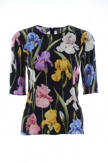 Dolce & Gabbana Top Seda Mujer - F7Y36T FSAWH
