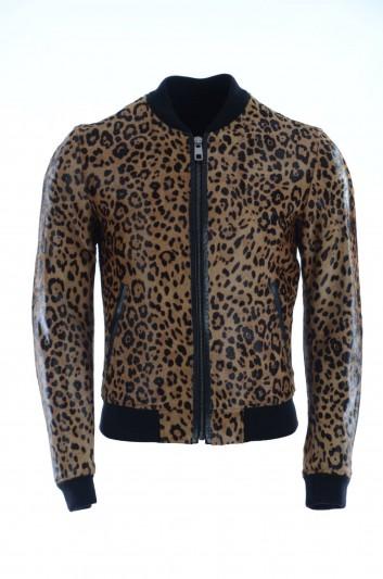 Dolce & Gabbana Men Leather Jacket - G9FA0L FUL4Z