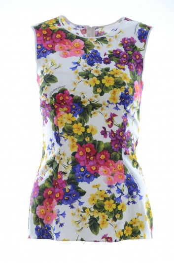 Dolce & Gabbana Top Seda Mujer - F7T89T FSAVF