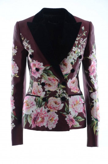 Dolce & Gabbana Chaqueta Seda Flores Mujer - I2A24W HP1ZD
