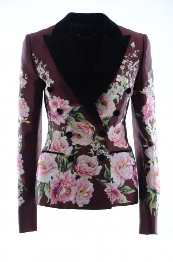 Dolce & Gabbana Women Flowered Silk Informal Jacket - I2A24W HP1ZD