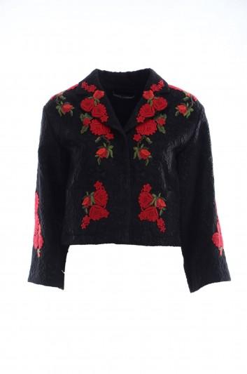Dolce & Gabbana Chaqueta Bordada Flores Mujer - F281YZ FJMR1