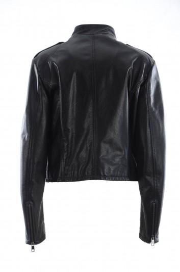 Dolce & Gabbana Women Leather Jacket - F9A25Z FUL3Y