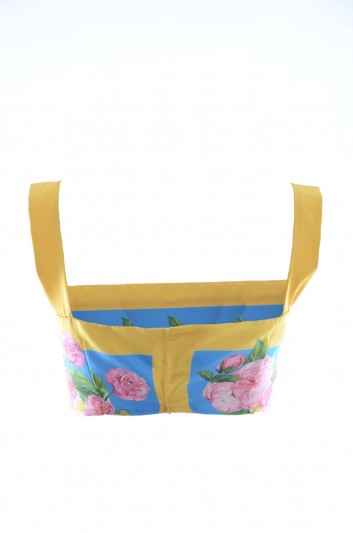 Dolce & Gabbana Top Floral Seda Mujer - F7ZR0T GDE52