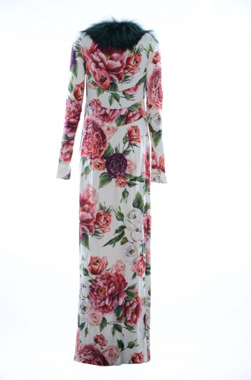 Dolce & Gabbana Abrigo Seda Floral Mujer - F0U62T GDJ21