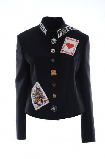 Dolce & Gabbana Chaqueta Reina de Corazones Mujer - F28EIZ FU3LD